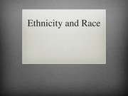 ANT 2000 Ethnicity and Race Lecture 1