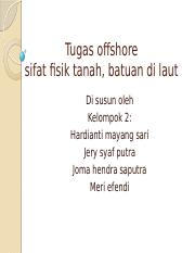 Tugas offshore kelompok 2