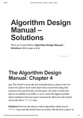 algorithm design manual solutions chap 1 4 algorithm design rh coursehero com skiena algorithm design manual solutions pdf the algorithm design manual solutions to exercises pdf
