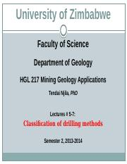 HGL 217 Mining Geology Applications Lectures  5-7