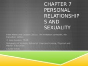 EPHE 142 Chapter 7 An Invitation to Health 4ce Student