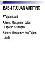 BAB 4 TUJUAN AUDITING