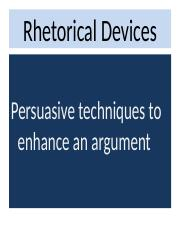 Persuasion - Rhetorical Devices.ppt