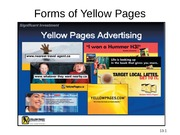Forms of Yellow Pages