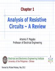Ch01 Analysis of Resistive Circuits - Review.pdf