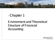 ASIS3115 Chapter 1 Environment and Theoritical Structure of Financial Accounting