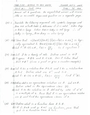 Exam 1 Solution Fall 2004 on Introduction to Advanced Math