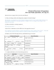 Chemical Reactions Equations 10 Pg 119 3 Observation Of Burning Match Or Splint Course Hero