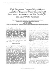 High Frequency Compatibility of Doped
