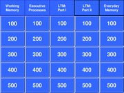 Exam2Jeopardy