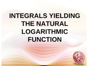lesson 4 Integrals Yielding Natural Log Function