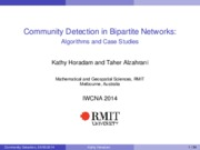 Community Detection in Bipartite Networks Algorithms and Case Studies