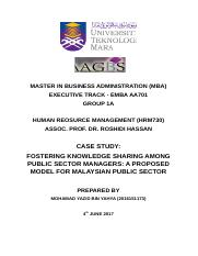 Fostering Knowledge Sharing among Managers.docx