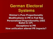 45 German Electoral Systems