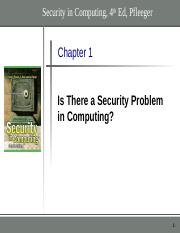 Chapter 1 - Is There a Security Problem final