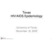 Topic 18 TDSHS_HIV_AIDS_Epidemiology