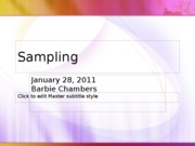 Jan 28_S_Sampling Part