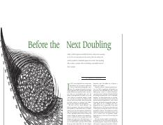 Before the Next Doubling article