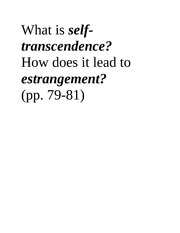 What is self-transcendence