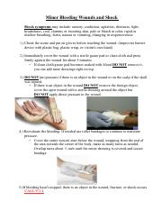 first aid for wounds pdf