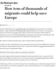 How tens of thousands of migrants could help save Europe - The Washington Post.pdf