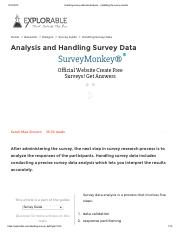 Handling survey data and analysis - validating the survey results.pdf