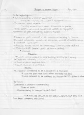 Religion In Ancient Egypt Lecture Note For CHW 3M0