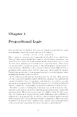 Chapter 1 Propositional Logic
