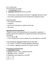 chapter 27 Expenditure Multiplier study notes