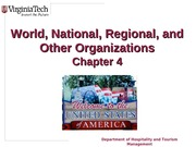 Chapter 4 Tourism Organizations