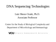 Sequencing Technologies2012fall