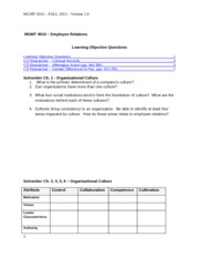 MGMT 4010 Learning Objective Questions