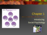 PSY BEH 104: Introducing Social Psychology Lecture (Zinger)