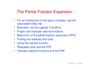 22. Partial fraction expansion