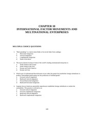 Chapter 10 INTERNATIONAL FACTOR MOVEMENTS AND MULTINATIONAL ENTERPRISES