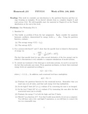 Homework C on Thermal Physics