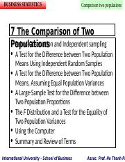 Chapter 07 - Comparison between Two Populations.ppt
