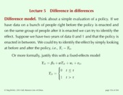 Lecture 5 Difference in differences
