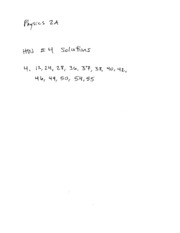 Physics Homework 4