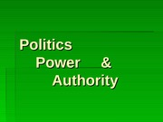 Politics power and authority