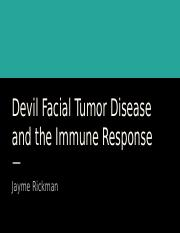 Devil Facial Tumor Disease and the Immune Response