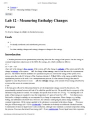 Lab 12 - Measuring Enthalpy Changes