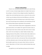 China's Education Issues