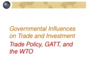 Governmental Influence on Trade Post