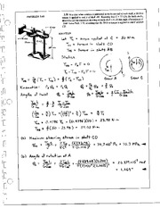 215_Mechanics Homework Mechanics of Materials Solution