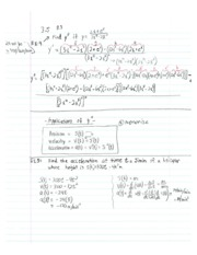 Calculus1 Notes 6 Acceleration of Time