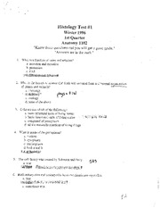 ANAT 1503 Histology Practice Questions (Over 200)