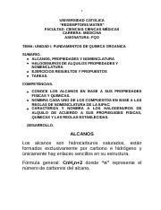 Alcanos I 2019 Docx 1 Universidad Catolica Redemptoris