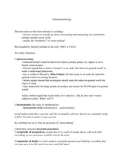 Lecture 13 Notes, Ethnomethodology