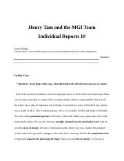 _Report_Henry Tam MGI Case